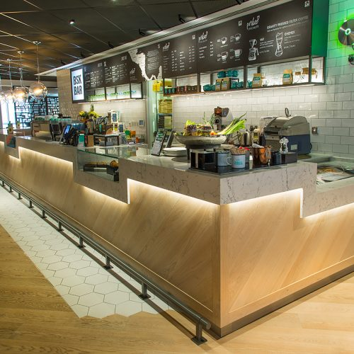 Beautiful restaurant and bar design, commercial kitchen design and install