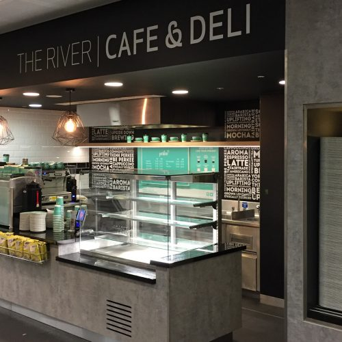 cafe and deli bar commercial and office building