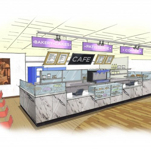 Coffee bar design drawings