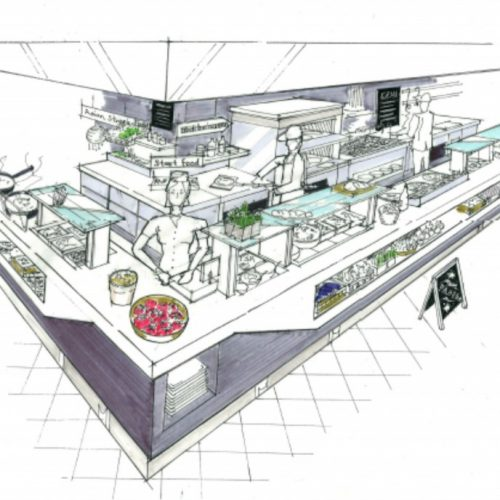 Servery design drawing