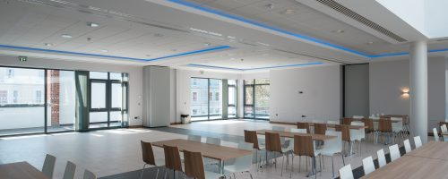 Catering flooring, education sector, school canteen