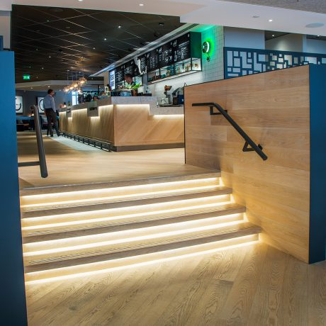 lit stairs restaurant design ceba solutions