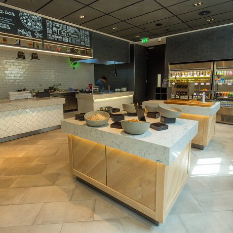 Self service stations and catering restaurant design by ceba solutions