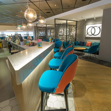 bar stools and lighting, restaurant design by ceba solutions