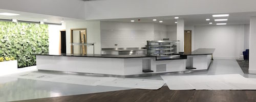 Commercial kitchen install