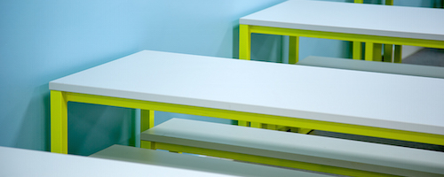 Eaton School new canteen design benches