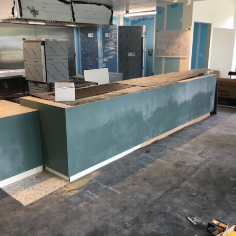 new cafe area being created