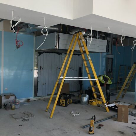 restaurant design - ventilation installation for office restaurant
