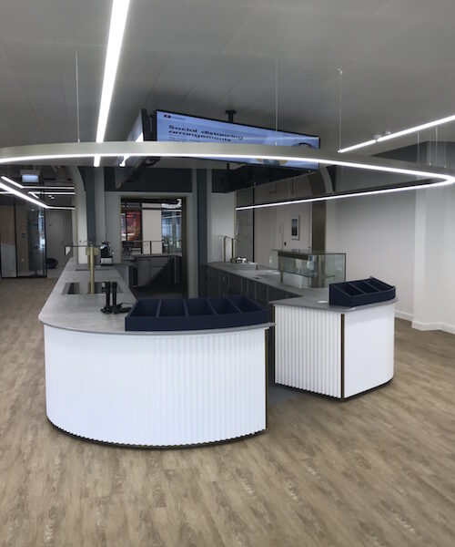 Commercial coffee bar and eatery for Fidelity