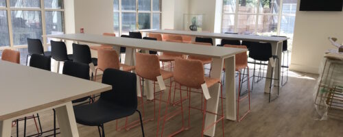 Fidelity coffee bar seating area - commercial kitchen installation
